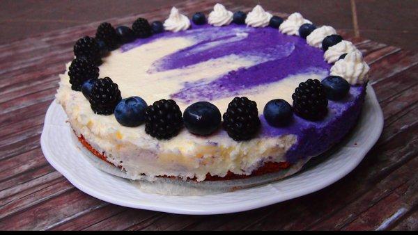 Gluténmentes álom - áfonyás mascarponés torta